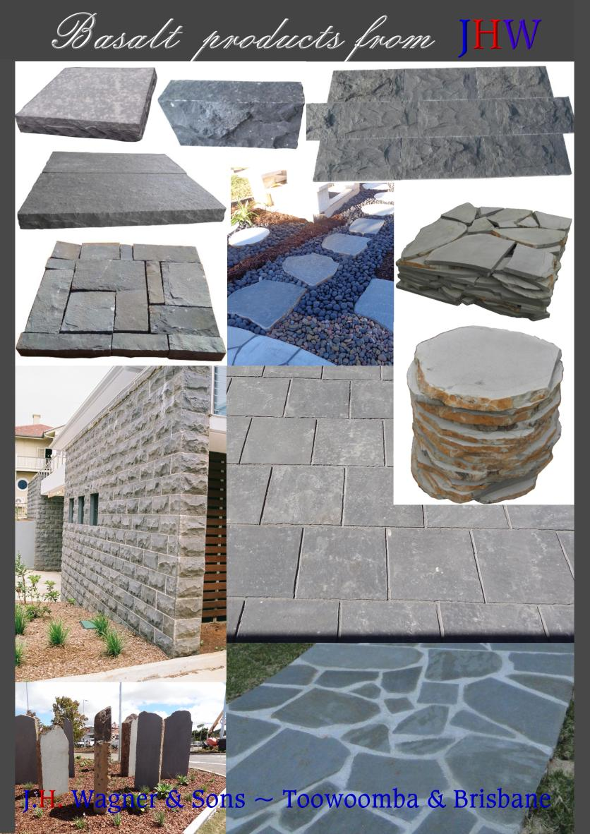 Basalt products from J.H. Wagner & Sons