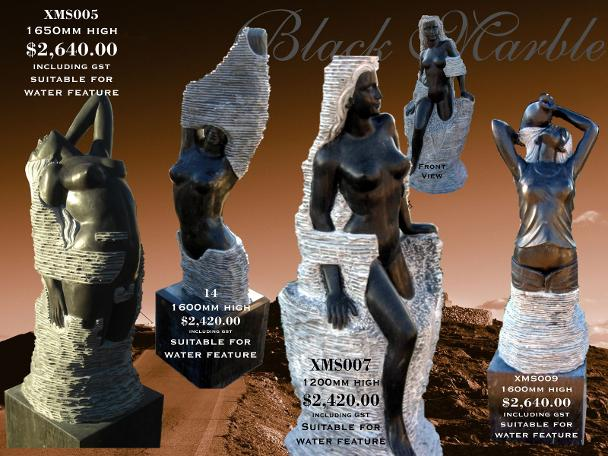 Black Marble Lady Sculptures from JH Wagner Toowoomba and Brisbane