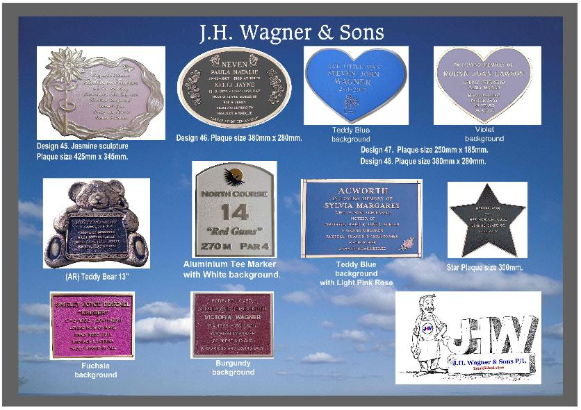 Bronze Plaques Queensland from J.H. Wagner & Sons