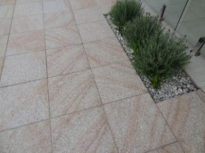 Light Yellow granite exfoliated tiles from J.H, Wagner & Sons.
