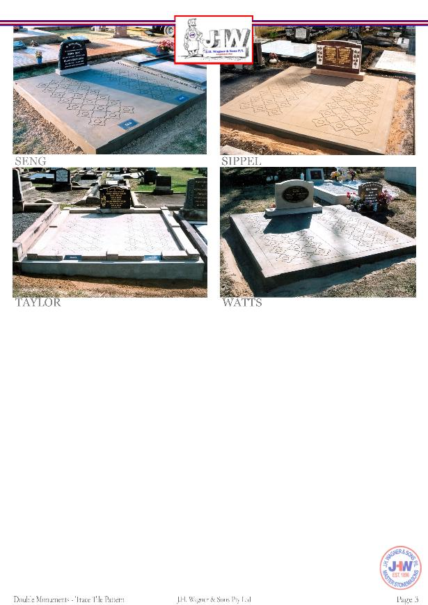 Double Monuments with Trace Tile Pattern Floors supplied and installed by J.H. Wagner & Sons Page 3.