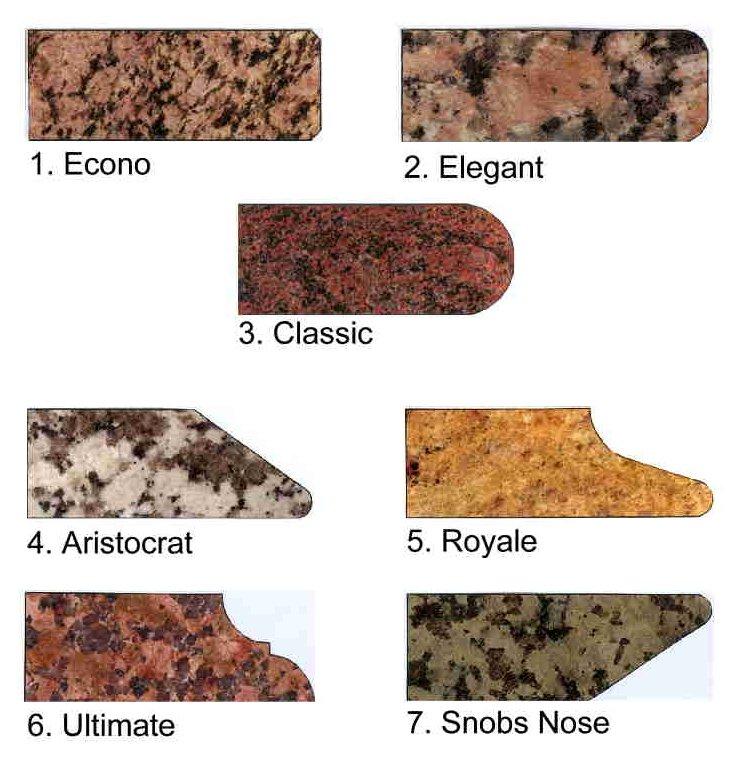 Granite Edges : Granite Edge Profiles Edge Profiles