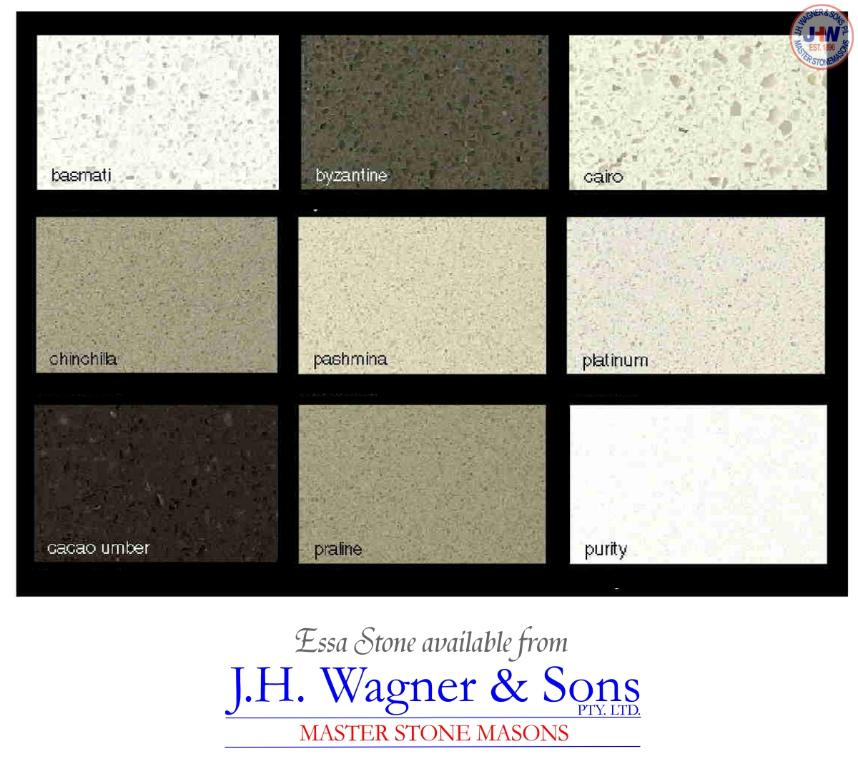 Essa Stone colours available from J.H. Wagner & Sons.