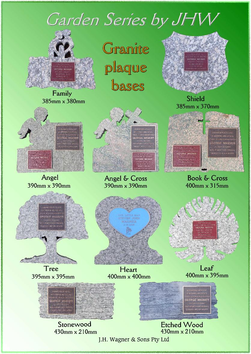 Garden Series Granite Plaque Bases