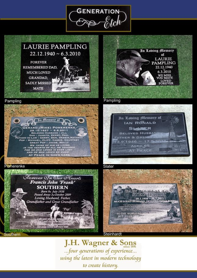 Laser Etching Lawn Plaques Page 3