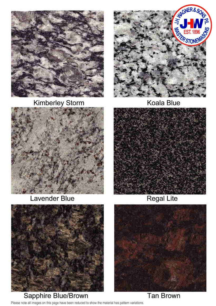 Granite Colour Chart from J.H. Wagner & Sons Page 4