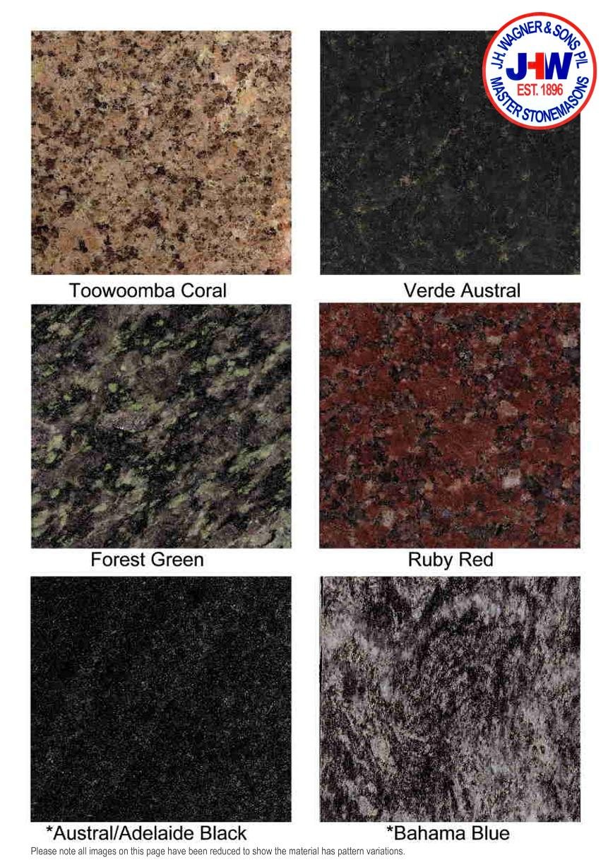 Granite Colour Chart from J.H. Wagner & Sons Page 5