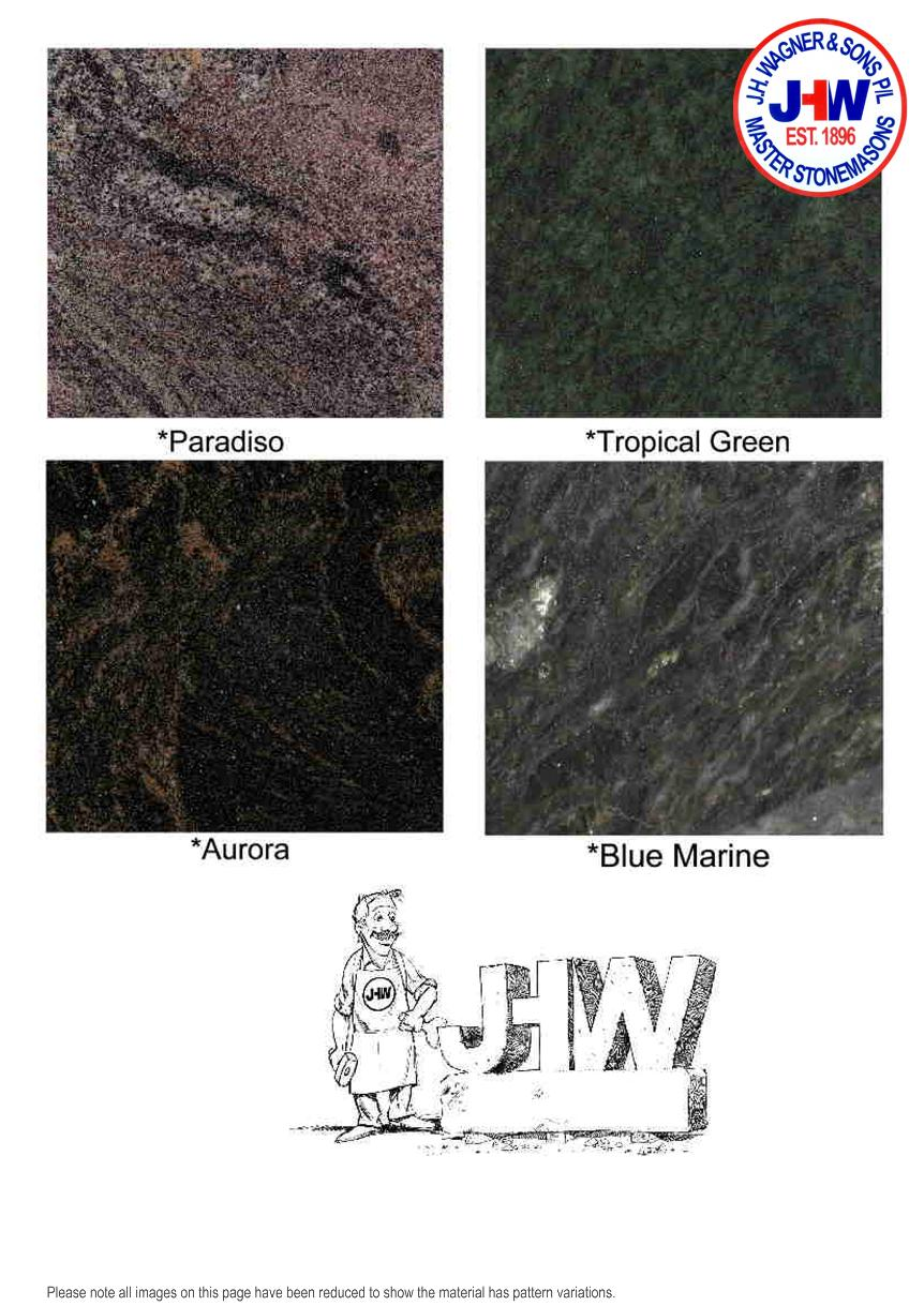 Granite Colour Chart from J.H. Wagner & Sons Page 7