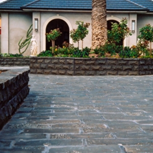 Basalt Paving & Walling supplied by J.H. Wagner & Sons.