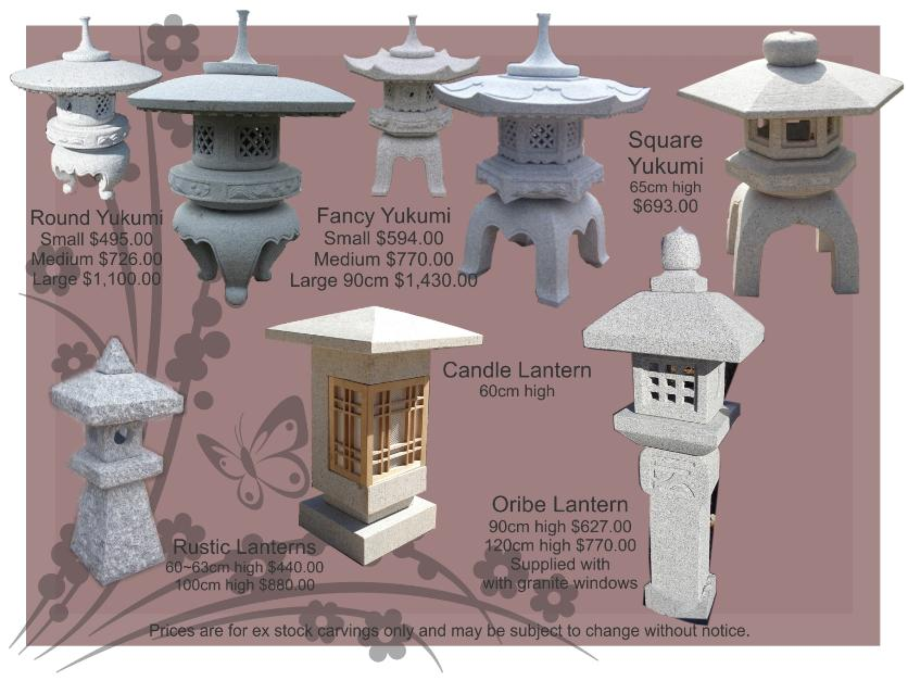 Japanese Lanterns natural granite
