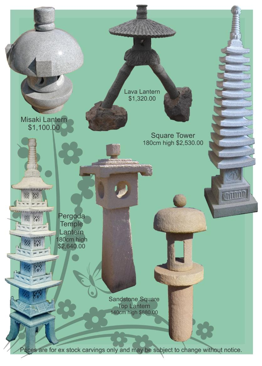 Stone Lanterns, Granite Japanese Lanterns