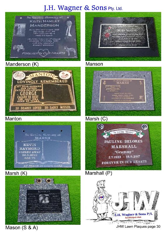 Remembrance Plaques by JHW