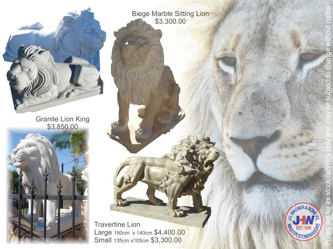 Carved Lion Statues, Wagner, Toowoomba, Brisbane, Queensland