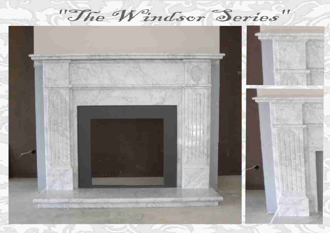 Windsor Marble Fireplace from J.H. Wagner & Sons.