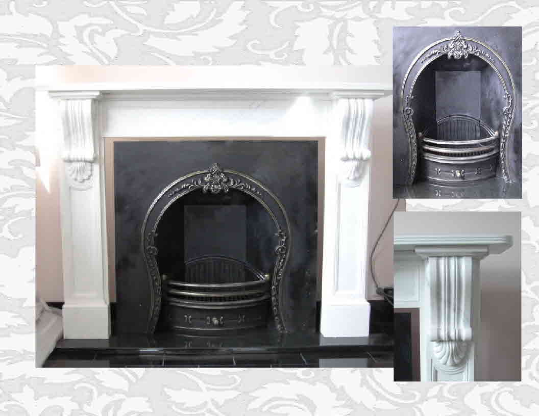 White Marble Fireplace from J.H. Wagner & Sons.