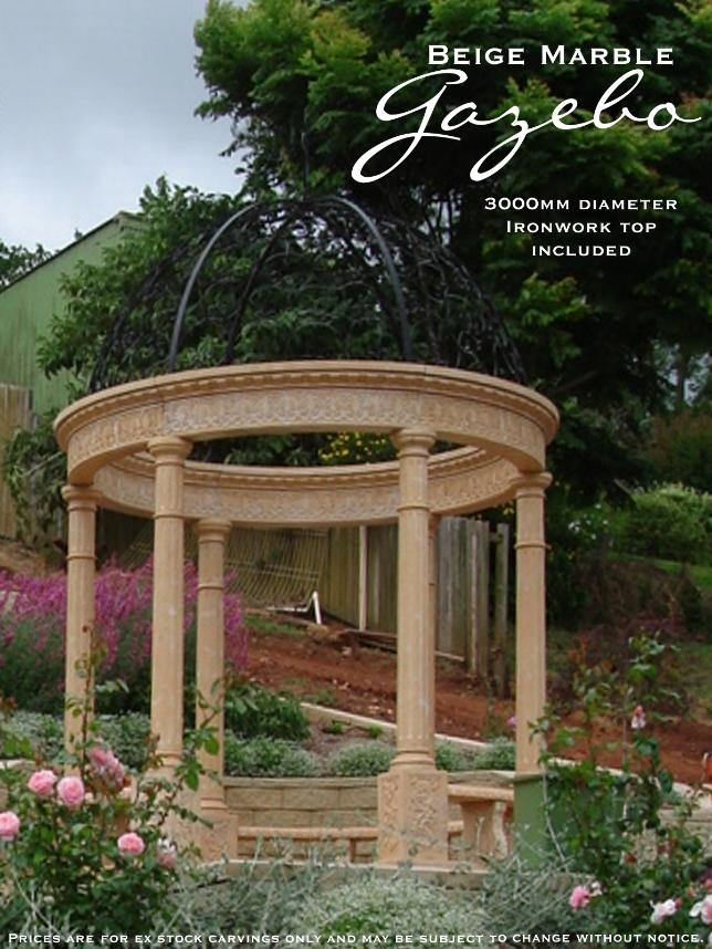 Beige Marble Gazebo supplied by J.H. Wagner & Sons.