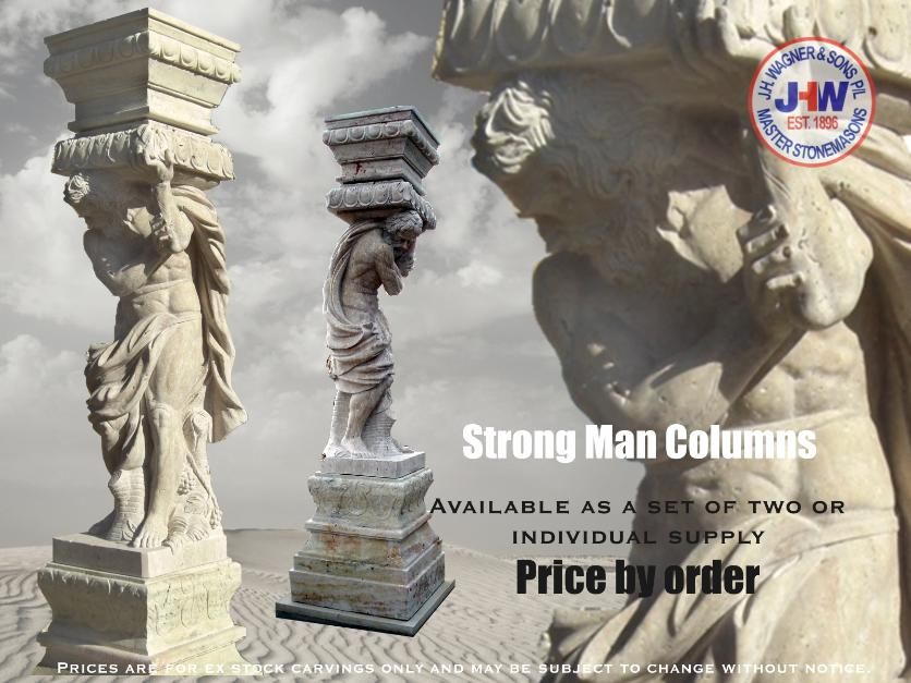Marble Strong Man Columns from J.H. Wagner Toowoomba and Brisbane, Queensland