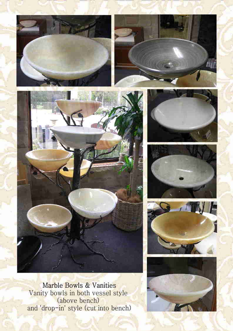 Marble Vanity Bowls and Marble Fruit Bowls