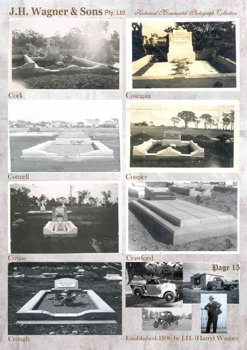 Historical Headstone photos page 15