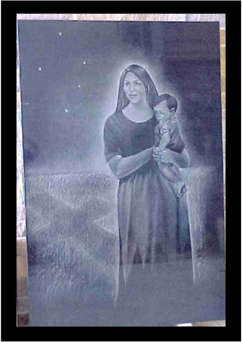 Our Lady of Lourdes Etching