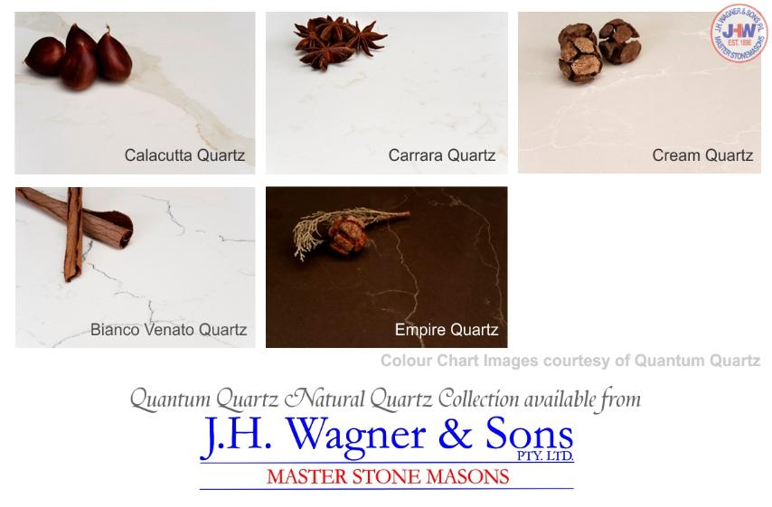 Quantum Quartz Natural quartz Collection available from J.H. Wagner & Sons.