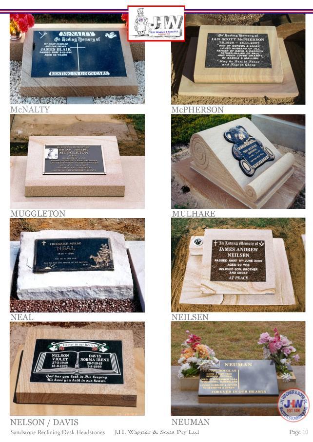 Sandstone Reclining Desk Headstones Page 10