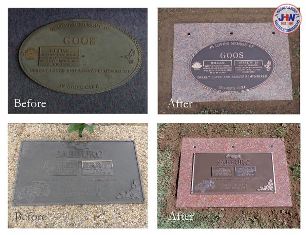 Refurbished Bronze Plaques from J.H. Wagner & Sons.