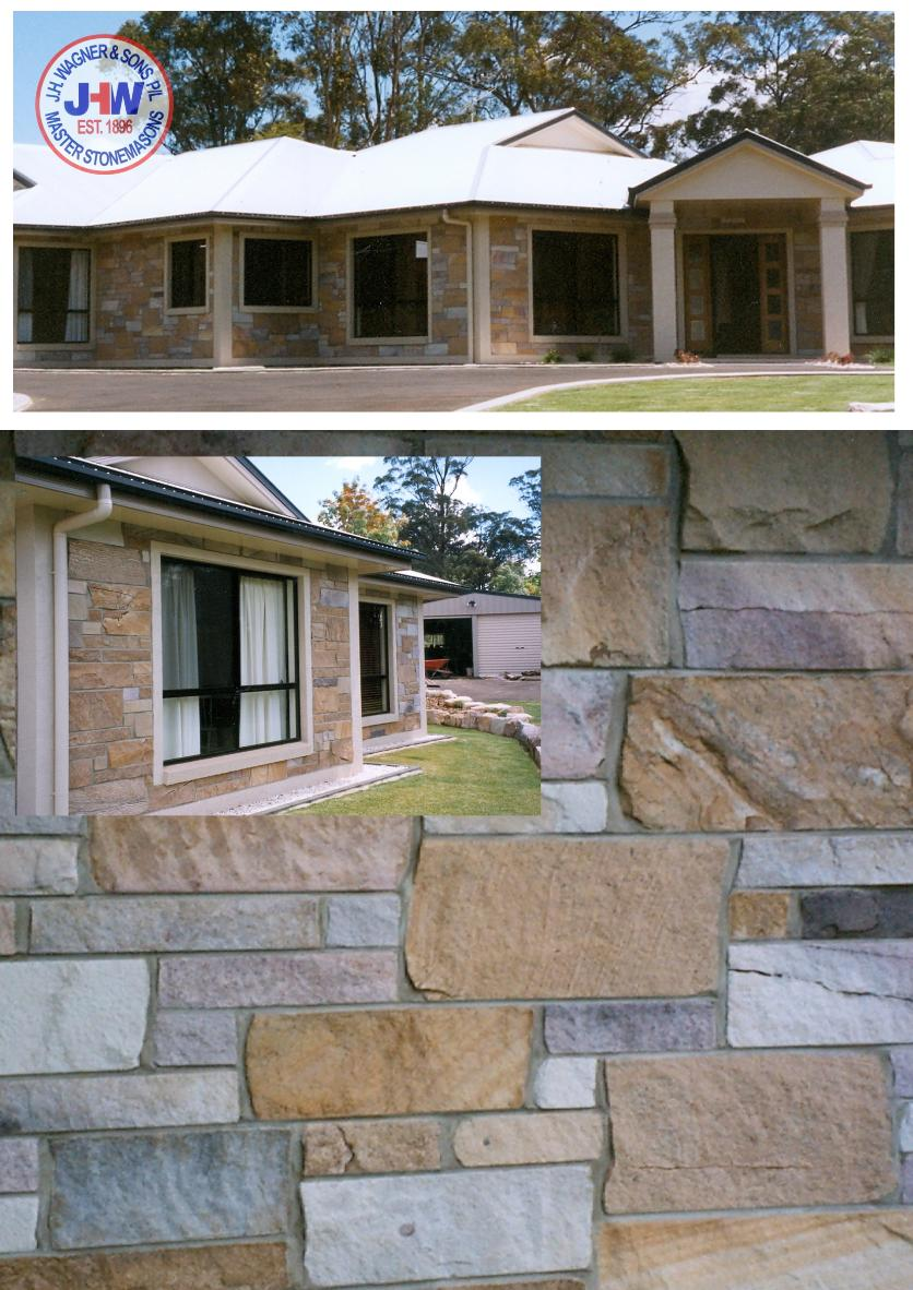 Mixed Colour Sandstone Walling supplied by J.H. Wagner & Sons.