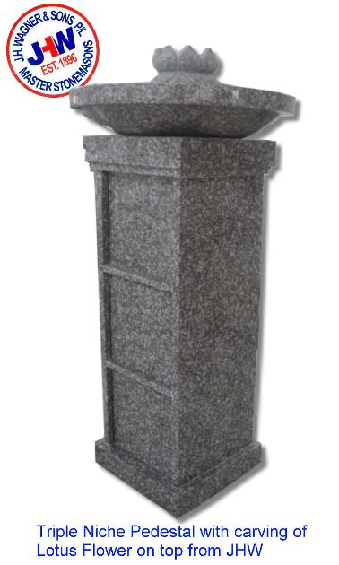 Niche pedestal from J H Wagner & Sons