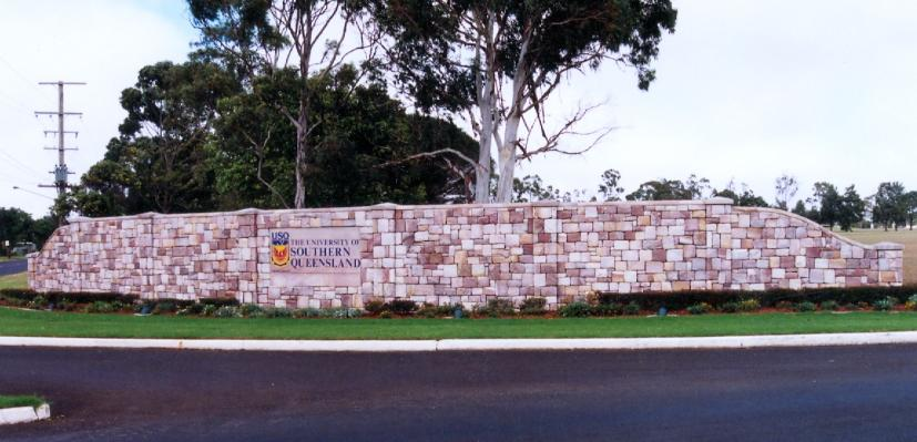 Sandstone Entry Statement at the University of Southern Queensland in Toowoomba