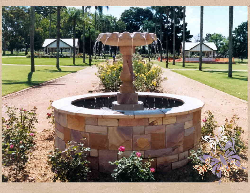 Newtown Park Sandstone Fountain